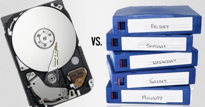 مقایسه Tape و Disk